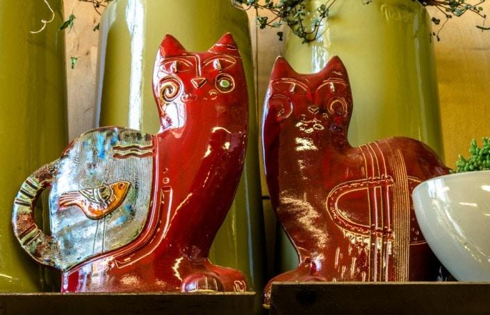 Rankų darbo keramikos skulptūrėlės