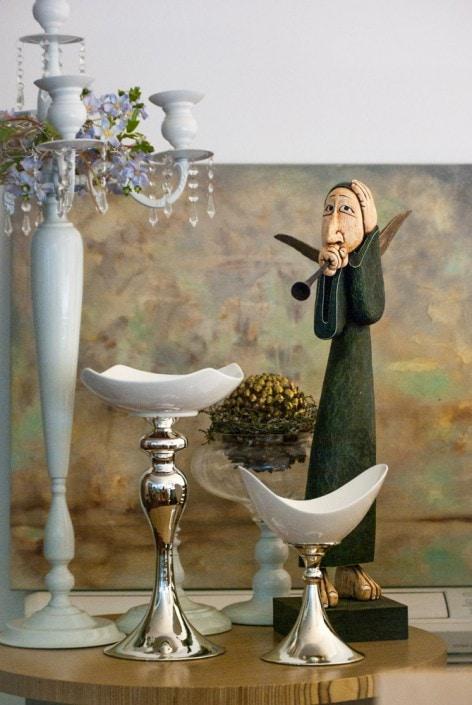 Vido Kranausko medinė angelo skulptūrėlė