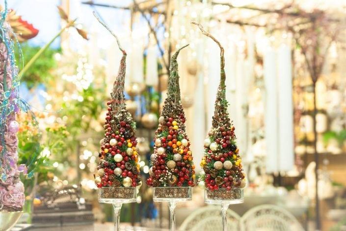 Kalėdos ritos gėlių salone