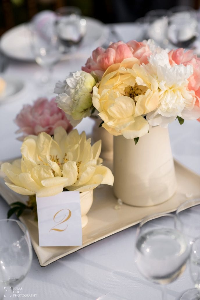 Vestuvių stalo dekoracijos