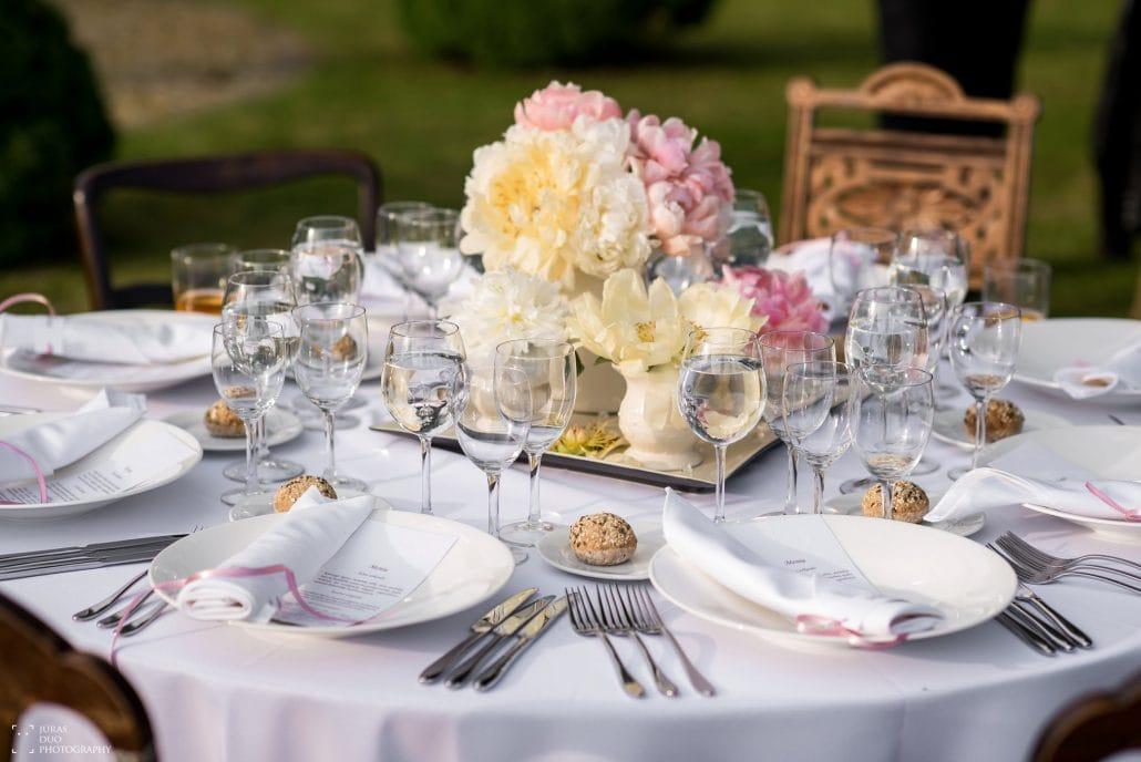 Vestuvių pokylio stalas Žemaitkiemio dvare
