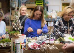 Floristikos kursai Kalėdų tema mėgėjams