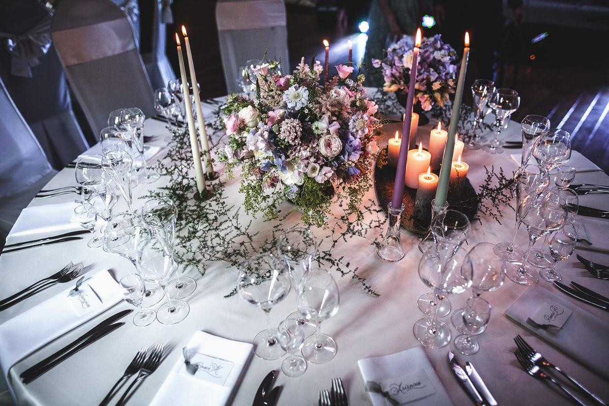 Vestuvių pokylio stalas