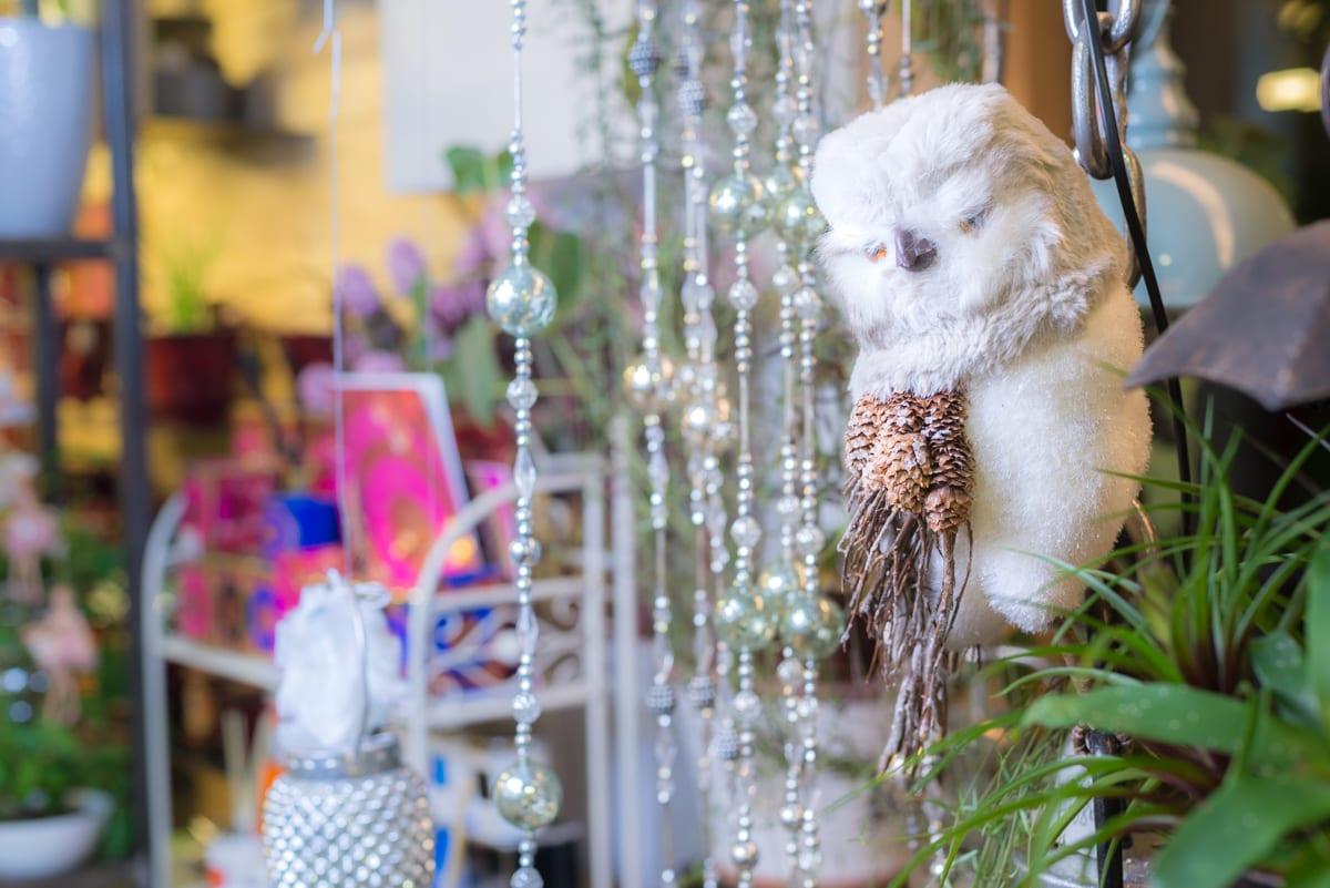 Kalėdinis vitrinos dekoras